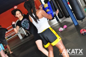 Women Kickboxing Austin Fitness