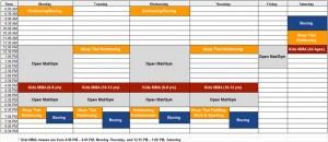 AKATX Class Schedule