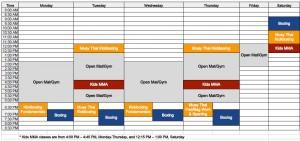 Austin Kickboxing Academy Class Schedule